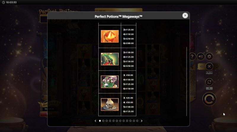 Perfect Potions Megaways :: Paytable - Medium Value Symbols