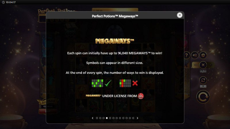 Perfect Potions Megaways :: 96040 Ways to Win