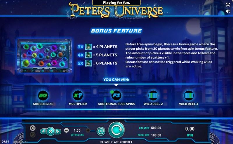Peter's Universe :: Bonus Game Rules