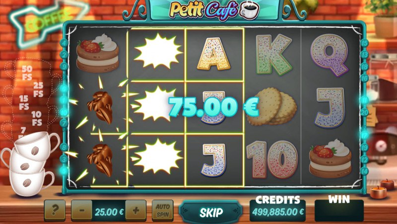 Petit Cafe :: Multiple winning paylines