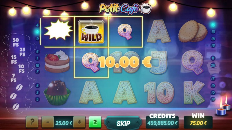Petit Cafe :: Free Spins Game Board