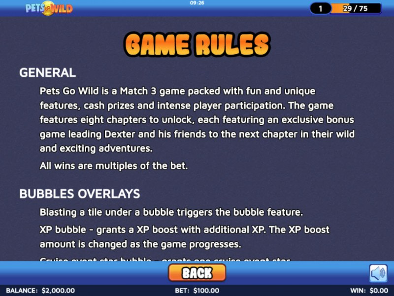 Pets Go Wild :: General Game Rules