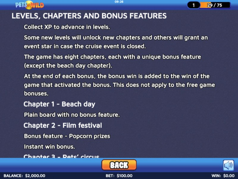 Pets Go Wild :: Levels, Chapters and Bonus Features
