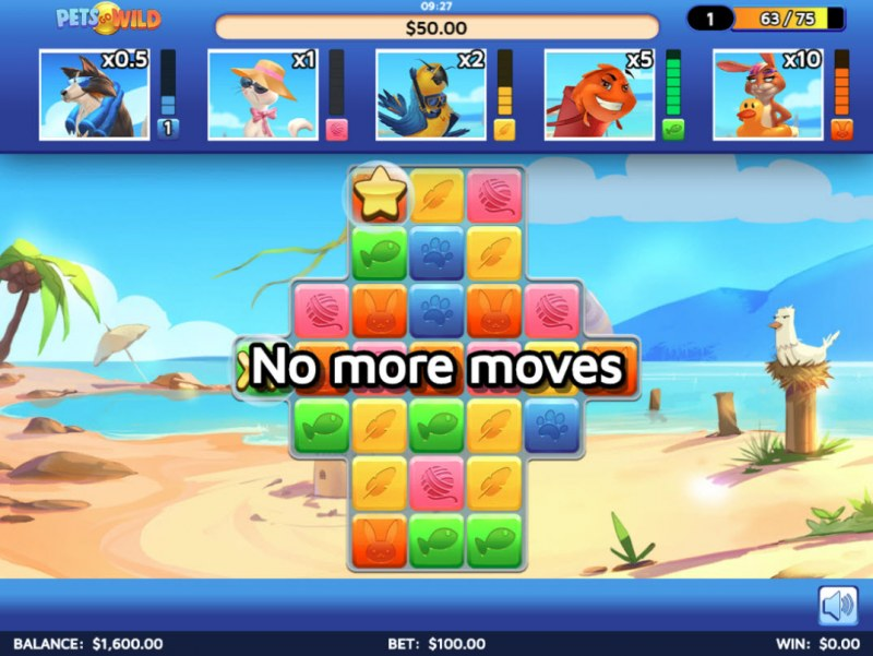 Pets Go Wild :: Game play continues until no more moves are left