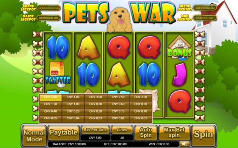 Pets War :: Available Betting Options