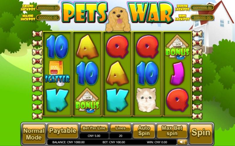 Pets War :: Main Game Board