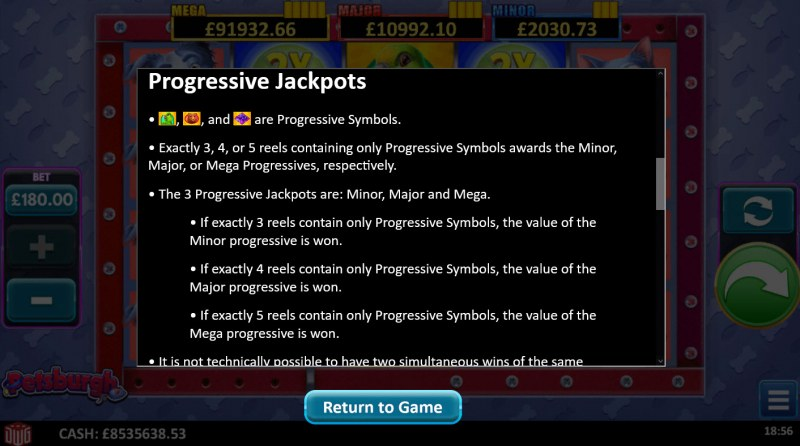 Petsburgh :: Jackpot Rules