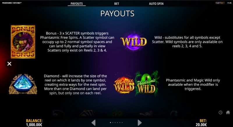 Phantasmic Fortunes :: Wild and Scatter Rules