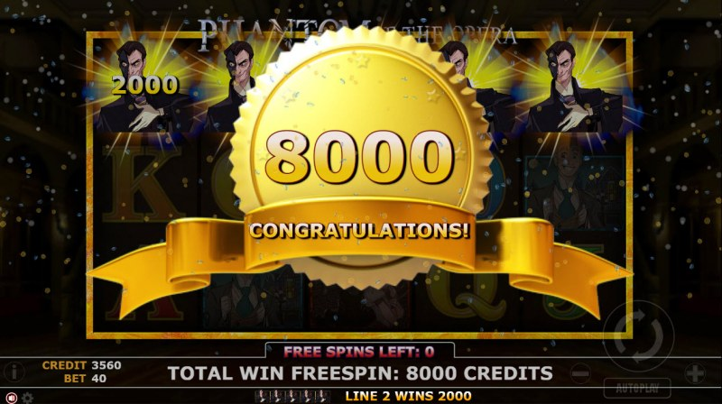 Phantom of Opera :: Total free spins payout