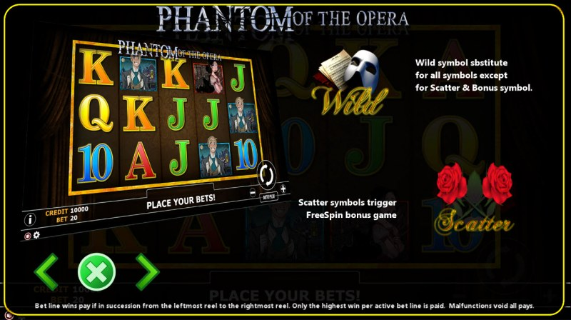 Phantom of Opera :: Wild and Scatter Rules