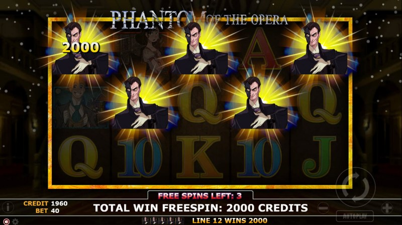 Phantom of Opera :: Free Spins Game Board
