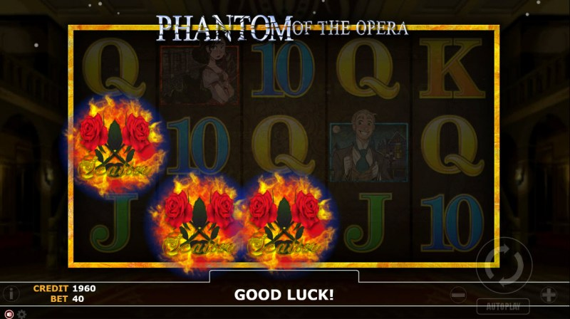 Phantom of Opera :: Scatter symbols triggers the free spins feature