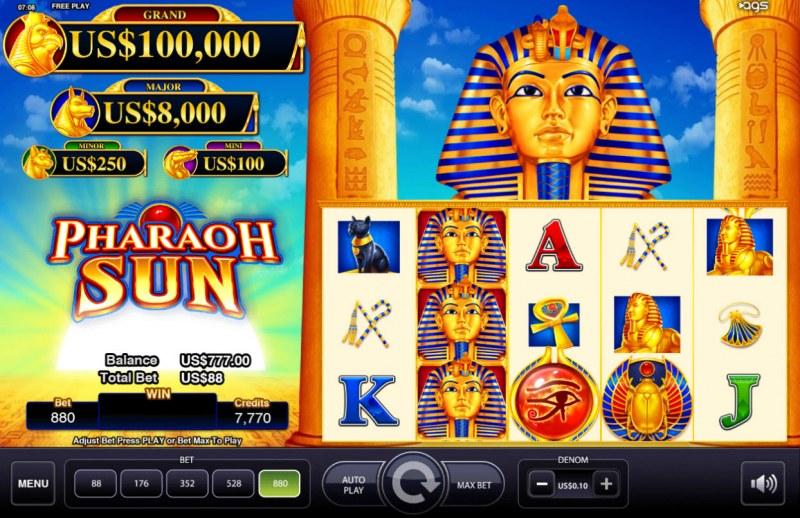 Pharaoh Sun :: Main Game Board