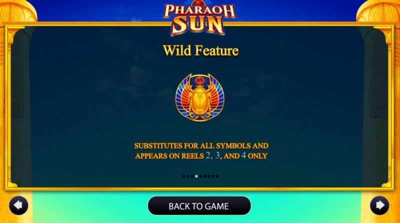 Pharaoh Sun :: Wild Symbols Rules
