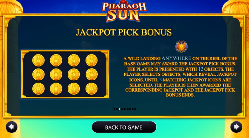Pharaoh Sun :: Jackpot Rules