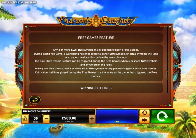 Pharaoh's Daughter :: Free Game Rules