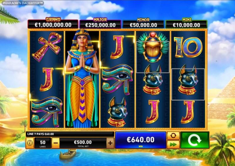 Pharaoh's Daughter :: Multiple winning paylines