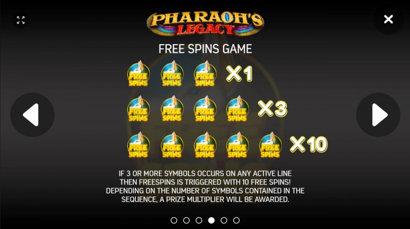 Pharaoh's Legacy :: Free Spins Rules