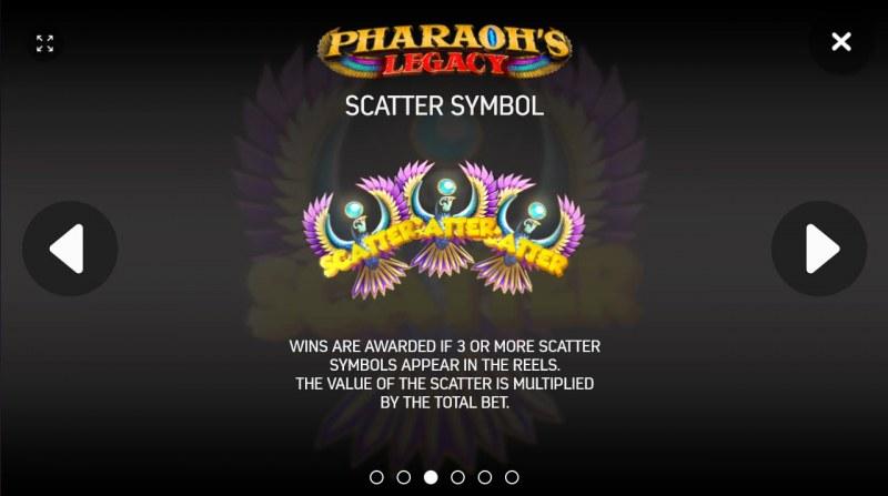 Pharaoh's Legacy :: Scatter Symbol Rules