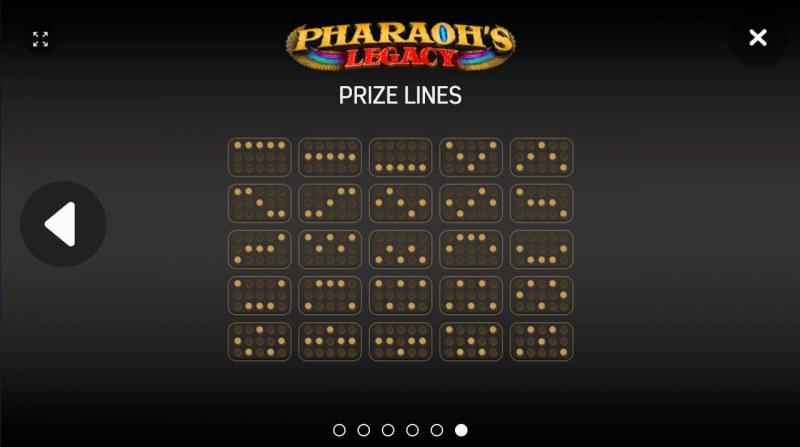 Pharaoh's Legacy :: Paylines 1-25