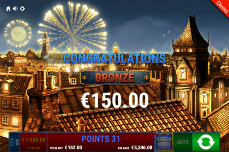 Pharao's Riches Golden Nights Bonus :: Total bonus payout