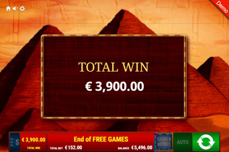 Pharao's Riches Golden Nights Bonus :: Total free spins payout