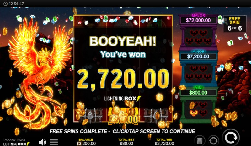 Phoenix Coins :: Total Free Spins Payout