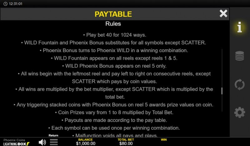 Phoenix Coins :: General Game Rules
