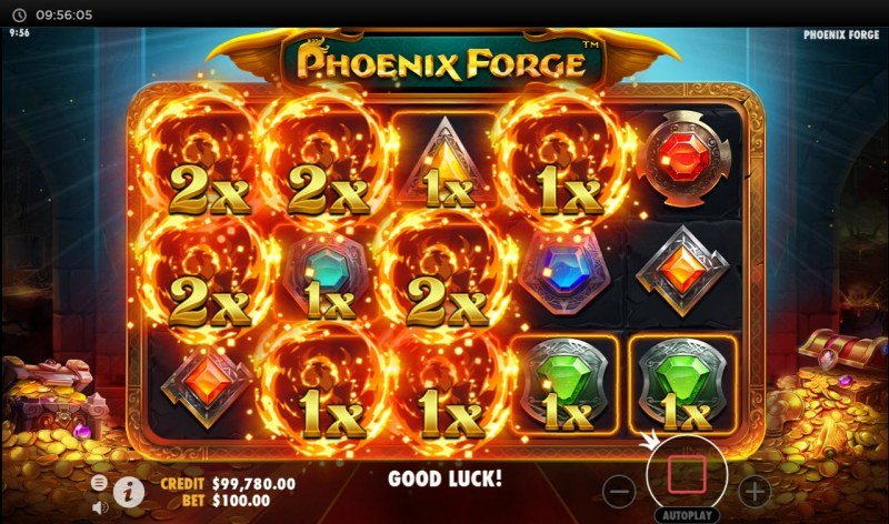 Phoenix Forge :: Win Multiplier increases with each cascade