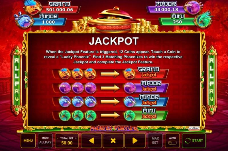 Phoenix Fortune :: Jackpot Rules