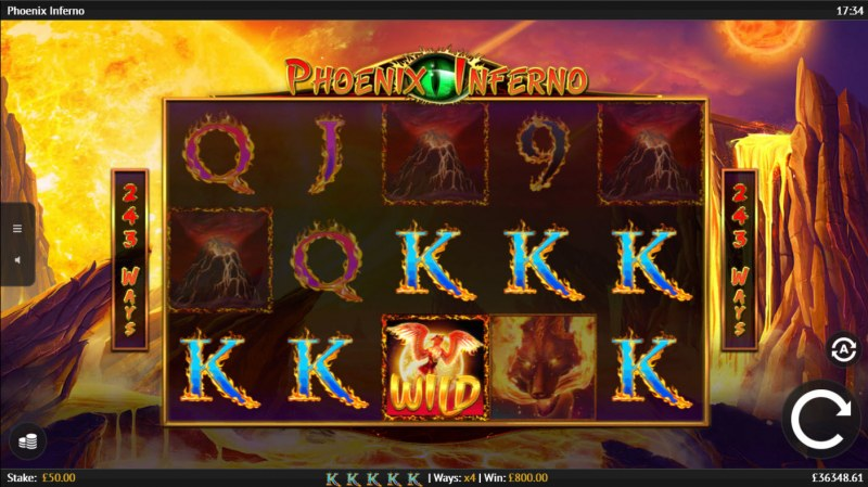 Phoenix Inferno :: A five of a kind win