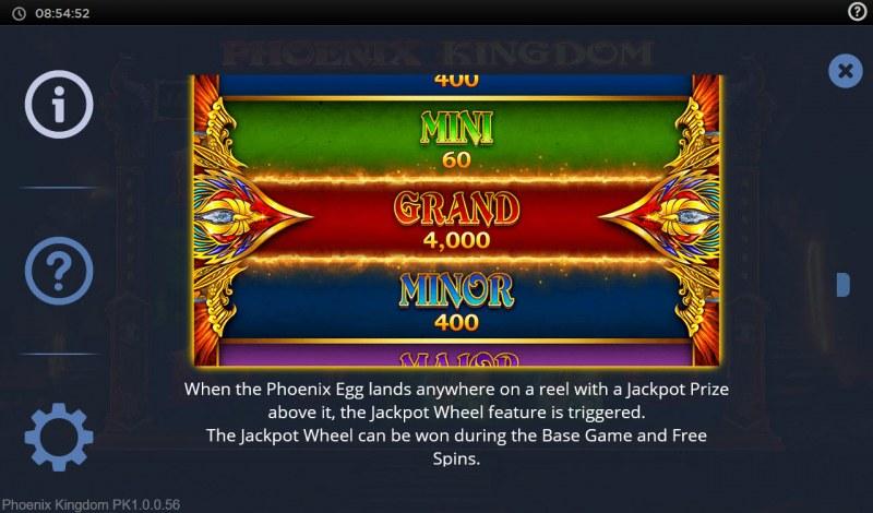 Phoenix Kingdom :: Jackpot Rules