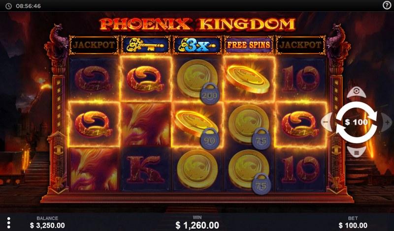 Phoenix Kingdom :: A five of a kind win