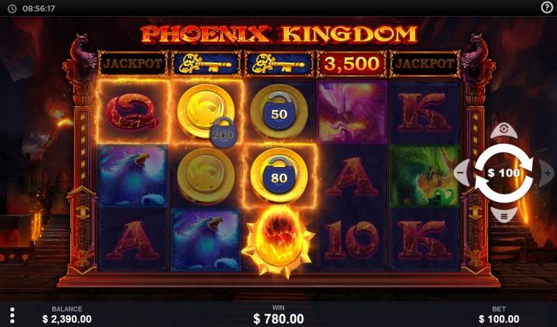 Phoenix Kingdom :: A three of a kind win