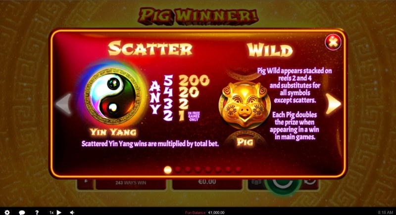 Pig Winner :: Wild and Scatter Rules