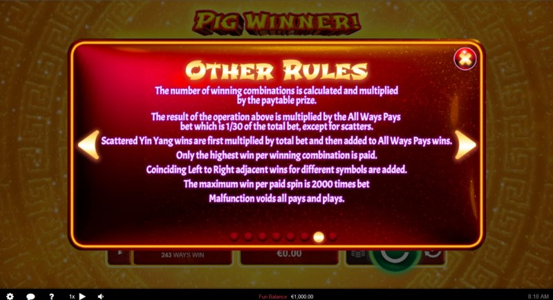 Pig Winner :: General Game Rules