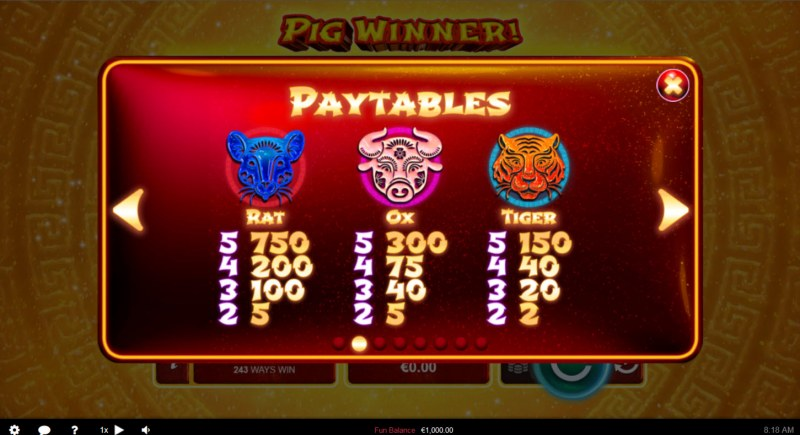 Pig Winner :: Paytable - High Value Symbols