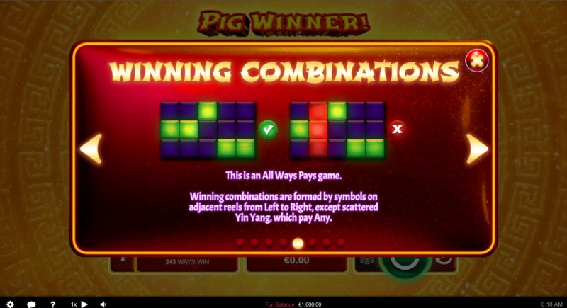 Pig Winner :: 243 Ways to Win
