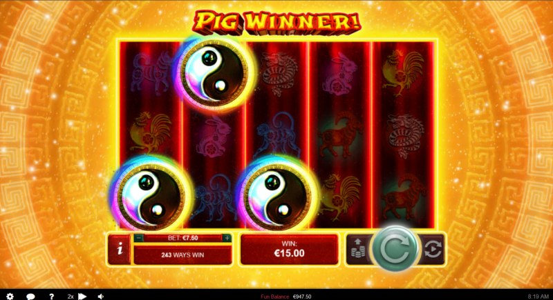Pig Winner :: Scatter symbols triggers the free spins bonus feature