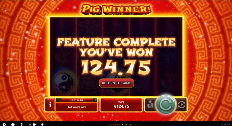Pig Winner :: Total Free Spins Payout