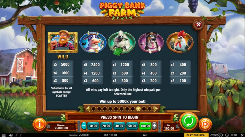 Piggy Bank Farm :: Paytable - High Value Symbols