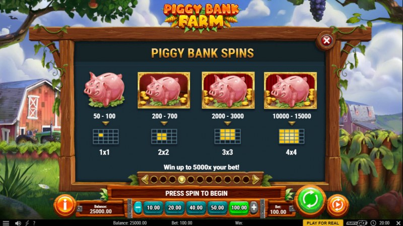 Piggy Bank Farm :: Feature Rules