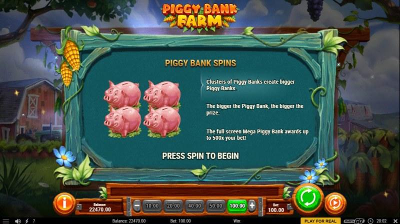 Piggy Bank Farm :: Piggy Spins triggered