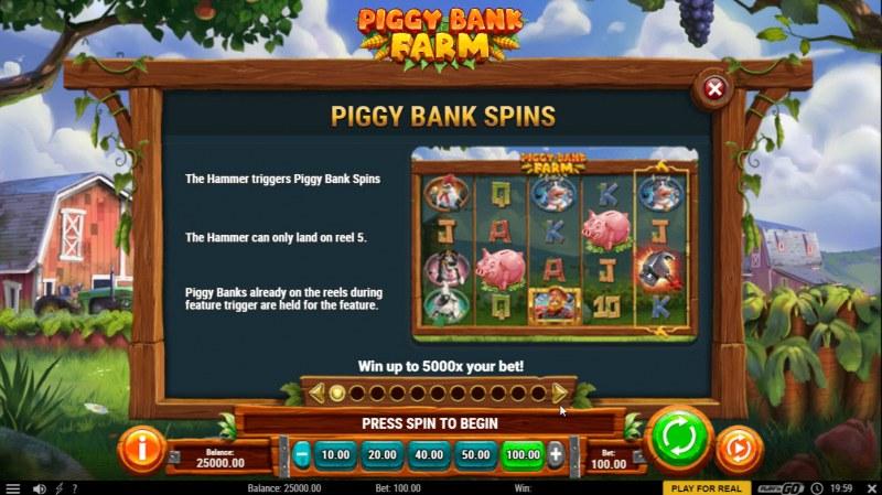 Piggy Bank Farm :: Piggy Bank Spins