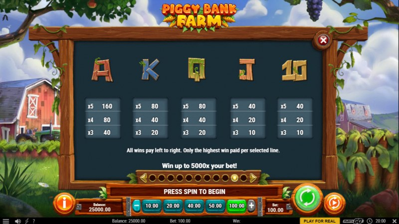 Piggy Bank Farm :: Paytable - Low Value Symbols