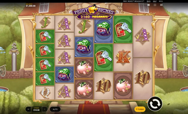 Piggy Riches Megaways :: Main Game Board