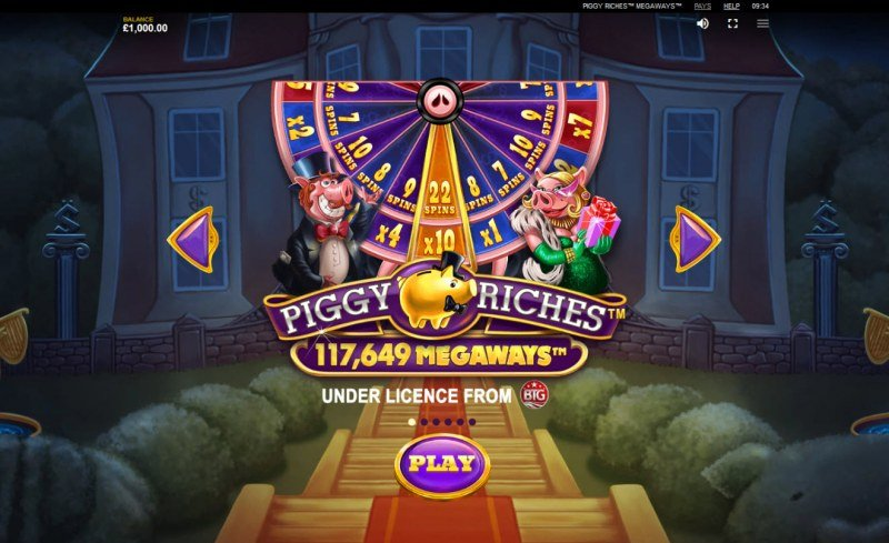 Piggy Riches Megaways :: Up to 117649 ways to win