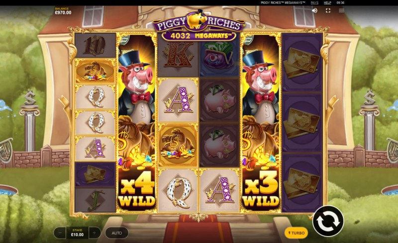 Piggy Riches Megaways :: Stacked wild symbols triggers multiple winning combinations