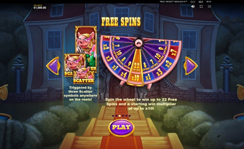 Piggy Riches Megaways :: Free Spins Rules