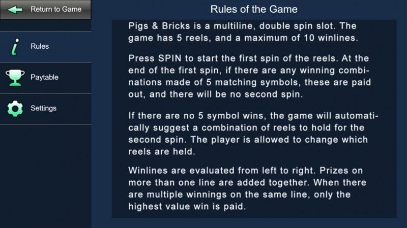 Pigs & Bricks :: General Game Rules